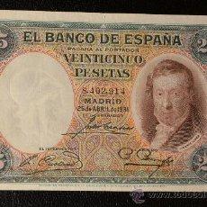 Billetes españoles: 25 PESETAS 25 ABRIL 1931 / VICENTE LOPEZ. Lote 28782239