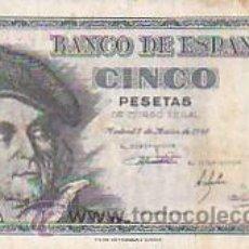 Billetes españoles: BILLETE DE CINCO PESETAS 1948. Lote 28981836
