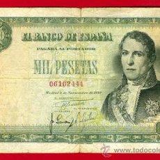 Billetes españoles: BILLETE 1000 PESETAS 1949 , MBC- , SIN SERIE , ORIGINAL , T444. Lote 29230394