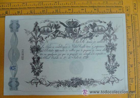 1000 REALES DE VELLÓN DE 17 DE JULIO DE 1799 (Numismática - Notafilia - Billetes Españoles)