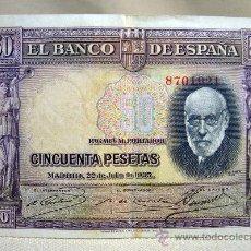 Billetes españoles: BILLETE, BANCO DE ESPAÑA, 50 PESETAS, 1935, SIN SERIE . Lote 29333371