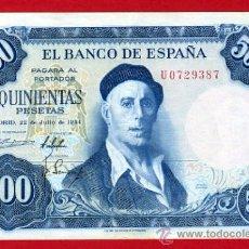 Billetes españoles: BILLETE 500 PESETAS 1954 , EBC- , SERIE U , T387. Lote 29437432