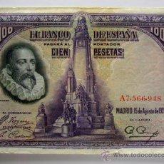 Billetes españoles: BILLETES DEL MUNDO . ESPAÑA . 100 PESETAS 1928. Lote 29672795