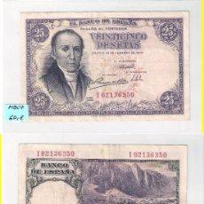 Billetes españoles: F107-ESTADO ESPAÑOL. BILLETE DE 25 PESETAS. MADRID. 1946. MBC+. Lote 29712617