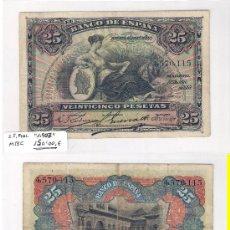 Billetes españoles: E56-BILLETE DE 25 PTAS. MADRID. 1907. MBC.. Lote 29839585