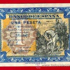 Billetes españoles: BILLETE 1 PESETA JUNIO 1940, CABALLITO, PLANCHA , SERIE D , ORIGINAL , T336. Lote 30361450