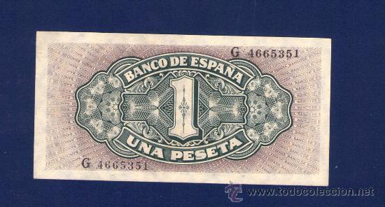 Billetes españoles: 1 PESETA DE 1940 . CARABELA SANTA MARIA . SERIE G . PLANCHA - Foto 2 - 30838694
