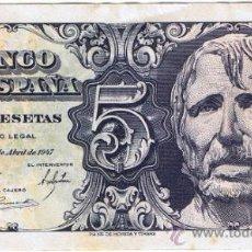 Billetes españoles: BILLETE DE CINCO PESETAS - AÑO 1947 - C-6326543 - BANCO DE ESPAÑA. Lote 31588857