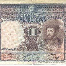 Billetes españoles: BILLETE 1000 PTS 1925 SIN SERIE - EBC. Lote 36198060