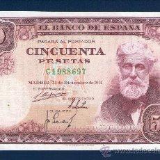 Billetes españoles: 50 PTAS DICIEMBRE 1951 EBC SERIE C T697. Lote 32153826