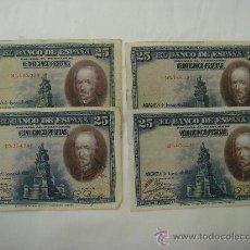 Billetes españoles: LOTE DE 16 BILLETES DE 25 PESETAS. EMISIÓN 15 AGOSTO 1928. Lote 32371731