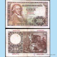 Billetes españoles: ESTDO ESPAÑOL.- 100 PESETAS. MADRID 2 DE MAYO 1948, SIN SERIE. EXCELENTE BUENA CONSERVACION EBC. Lote 32596904