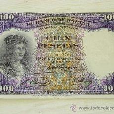 Billetes españoles: BILLETE DE CIEN PESETAS 1931, GONZALO FERNANDEZ DE CORDOBA. Lote 32682329