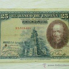 Billetes españoles: BILLETE DE 25 PESETAS DE CALDERON DE LA BARCA DEL 1928 -. Lote 32691402