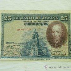 Billetes españoles: BILLETE DE 25 PESETAS DE CALDERON DE LA BARCA DEL 1928 - ORIGINAL. Lote 32691579