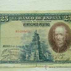 Billetes españoles: BILLETE DE 25 PESETAS DE CALDERON DE LA BARCA DEL 1928 - ORIGINAL. Lote 32693387