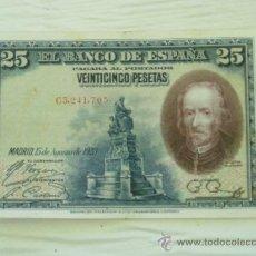 Billetes españoles: BILLETE DE 25 PESETAS DE CALDERON DE LA BARCA DEL 1928 - ORIGINAL. Lote 32693459