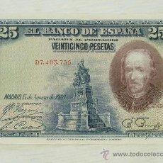 Billetes españoles: BILLETE DE 25 PESETAS DE 1928, CALDERON DE LA BARCA, ORIGINAL. . Lote 32934696