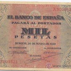 Billetes españoles: 1000 PESETAS-20-05-1938-SC-. Lote 32963509