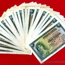 Billetes españoles: LOTE 33 BILLETES 5 PESETAS 1935 , SERIE C , EBC- / EBC , ORIGINALES. Lote 33032397
