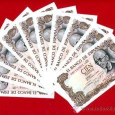 Billetes españoles: LOTE 10 BILLETES 100 PESETAS 1970 , PLANCHA CORRELATIVIOS, SERIE ESPECIAL 9B , ORIGINALES. Lote 33077980
