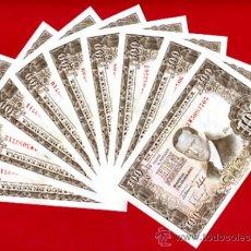 Billetes españoles: LOTE 9 BILLETES 100 PESETAS 1953 , PLANCHA CORRELATIVIOS, SERIE 3W , ORIGINALES. Lote 226397625