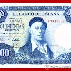 Billetes españoles: BILLETE 500 PESETAS 1954 , EBC , SERIE L , ORIGINAL , T087. Lote 33078170