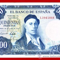 Billetes españoles: BILLETE 500 PESETAS 1954 , EBC , SERIE L , ORIGINAL , T044. Lote 33078174