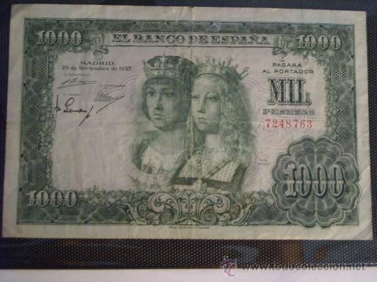 1000 PESETAS 1957 SIN SERIE REYES CATOLICOS (Numismática - Notafilia - Billetes Españoles)