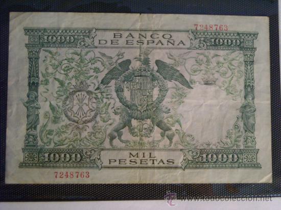 Billetes españoles: 1000 pesetas 1957 sin serie reyes catolicos - Foto 2 - 38335930