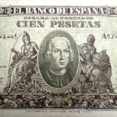 Billetes españoles: 100 PESETAS 9 DE ENERO DE 1940 VER FOTOS. Lote 33368654