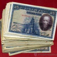 Billetes españoles: LOTE DE 100 BILLETES 25 PESETAS 1928 , DIFERENTES CONSERVACIONES, ORIGINALES. Lote 270636003
