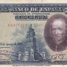 Billetes españoles: BILLETE 25 PESETAS MADRID 1928 SERIE C. Lote 34158953