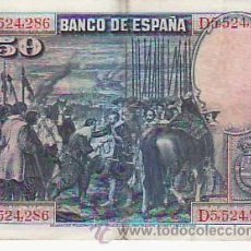 Billetes españoles: BILLETE 50 PESETAS. Lote 34204732