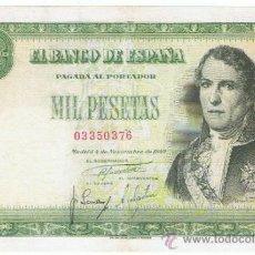 Billetes españoles: BILLETE 1000 PTS 1949 4 NOVIEMBRE ESTADO ESPAÑOL D RAMÓN DE SANTILLÁN PESETAS NUMISBAZAR. Lote 34263543