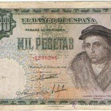 Billetes españoles: BILLETE 1000 PTS 1946 19 FEBRERO ESTADO ESPAÑOL VIVES PESETAS NUMISBAZAR. Lote 34263644