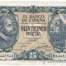 Billetes españoles: BILLETE 25 PTS 1940 9 ENERO ESTADO ESPAÑOL MILANO PESETAS NUMISBAZAR. Lote 34263742