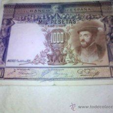 Billetes españoles: BILLETE DE MIL (1000) PESETAS 1925. Lote 43638583