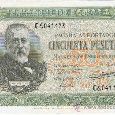 Billetes españoles: BILLETE 50 PTS 1940 9 ENERO ESTADO ESPAÑOL MENENDEZ PELAYO PESETAS NUMISBAZAR. Lote 34267020