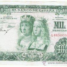 Billetes españoles: BILLETE 1000 PTS 1957 29 NOVIEMBRE ESTADO ESPAÑOL REYES CATÓLICOS NUMISBAZAR. Lote 34268641