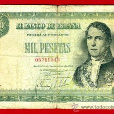 Billetes españoles: BILLETE 1000 PESETAS 1949 , MBC- , SIN SERIE , ORIGINAL , T545. Lote 34426401