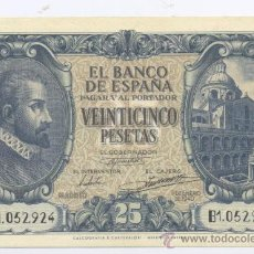 Billetes españoles: 25 PESETAS 09-01-1940-SC. Lote 34561145