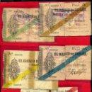 Billetes españoles: LOTE 5 BILLETES, SERIE COMPLETA BANCO DE GIJON 1936 , 5 25 50 100 PESETAS , ORIGINALES. Lote 34576702