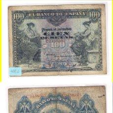 Billetes españoles: E61-ESPAÑA. BILLETE DE 100 PESETAS. MADRID. 1906. BC.. Lote 34678248