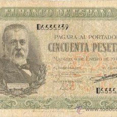 Billetes españoles: BILLETE 50 PTS 1940 - 9 ENERO - ESTADO ESPAÑOL MENENDEZ PELAYO PESETAS. Lote 35731867