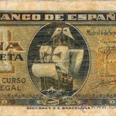 Billetes españoles: BILLETE 1 PESETA - 4 SEPTIEMBRE 1940 - SANTA MARÍA -. Lote 35731976