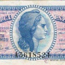 Billetes españoles: BILLETE 50 CÉNTIMOS - 1937 - MINISTERIO DE HACIENDA - . Lote 35732148