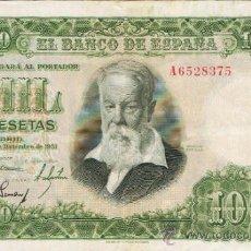 Billetes españoles: BILLETE 1000 PESETAS - 30 DE DICIEMBRE 1951 -JOAQUIN SOROLLA - ESTADO ESPAÑOL -. Lote 35733265