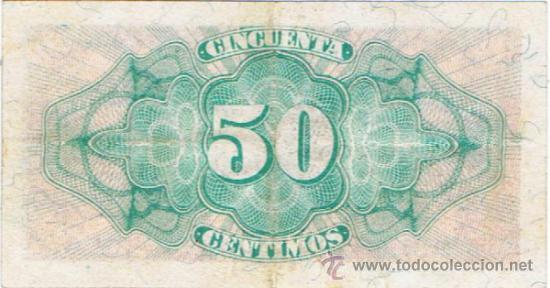 Billetes españoles: Billete 50 céntimos - 1937 - Ministerio de Hacienda - - Foto 2 - 35732148