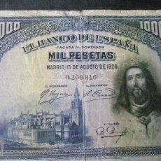 Billetes españoles: BILLETE ESPAÑA-1.000 PESETAS-15 AGOSTO 1928-SIN SERIE 0200916-.. Lote 35851535